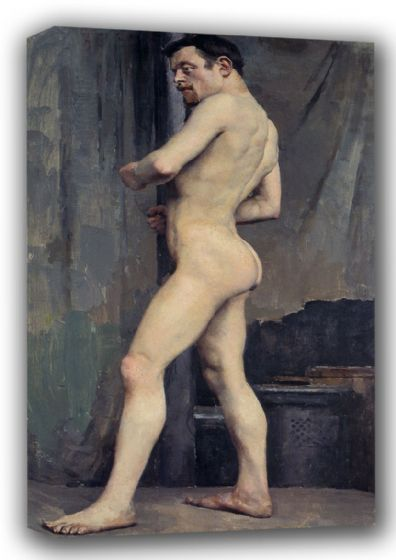 Gallen-Kallela, Akseli: Male Nude. Fine Art Canvas. Sizes: A3/A2/A1 (001078)